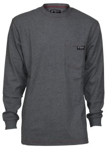 Flame Resistant FR Work T-Shirts - Gray Color
