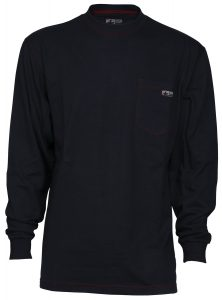 Flame Resistant FR Work T-Shirts - Navy Blue