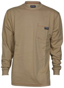 Flame Resistant FR Work T-Shirts - Tan Color