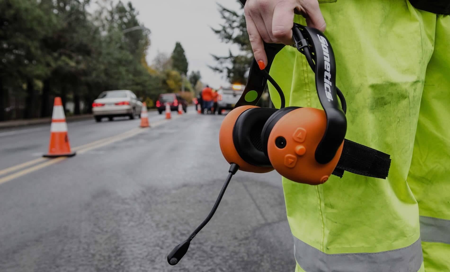 Wireless two-way communication headsets